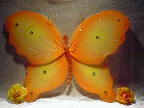 Deko Schmetterling orange