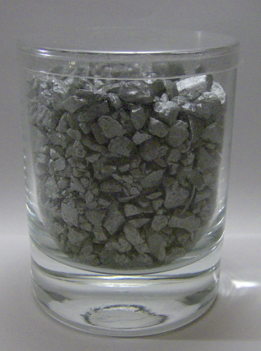 CRUSHED ICE silber, im Gina-Glas