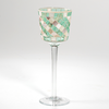 Wavy Mother of Pearl Mosaic Votivglas mit Stiel