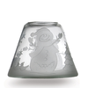 Frosted Snowman Lampenschirm 104gr Glas